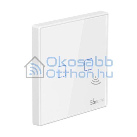 Sonoff T2 EU 2C RF vezeték nélküli 2 gombos fali kapcsoló