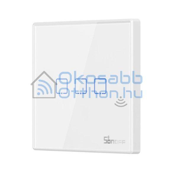 Sonoff T2 EU 3C RF vezeték nélküli 3 gombos fali kapcsoló