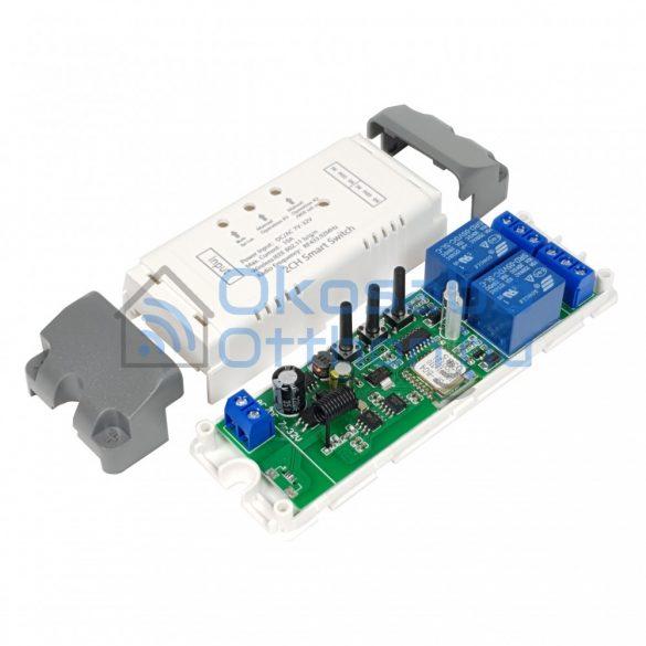 SmartWise 7V-32V két áramkörös WiFi + RF okosrelé védőtokban