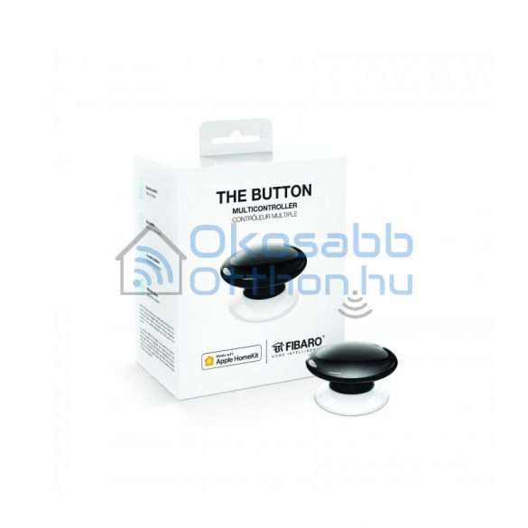 Fibaro The Button Fekete HomeKit