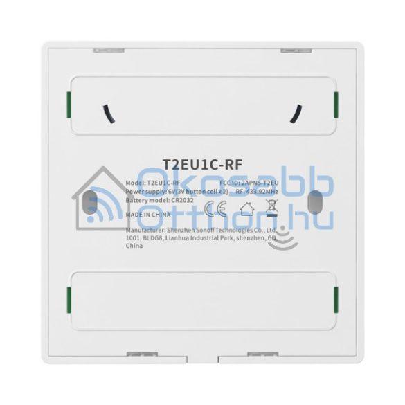 Sonoff T2 EU 1C RF vezeték nélküli 1 gombos fali kapcsoló